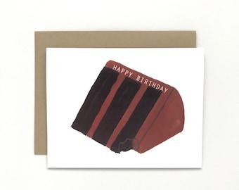 Happy Birthday Chocolate Cake - Birthday Card