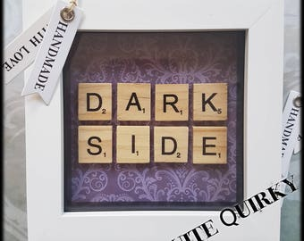 Dark Side Scrabble Art Frame