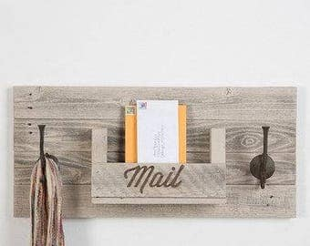 reclaimed wood mail slot wall hanging