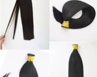 """Micro rings tip double drawn with rings  1 gram hair extensions 100g 20"""" thick ends"""