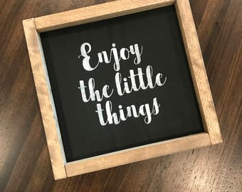 Enjoy The Little Things-Rustic Wood Sign-Rustic Wood Decor