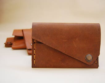 Handmade Leather Money Clip, Card Case