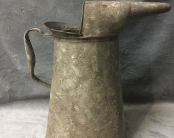 Rare U.S. Standard 1 Gal. Galvanized Tin Oil can Petrolina - Rusty Charm Gardening Watering Can Decor Farmhouse