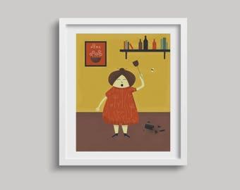 Retro / Mid Century Art / Funny / Texture / Wall Art / 16x20 / 8x10 / Digital Art / Instant Download / Printable Art / Vintage / Prints