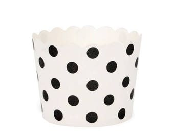 Baking Cups - Black Dots