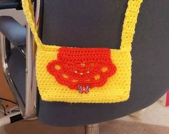 Sunshine crochet cross-body purse