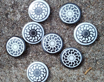 "Sonnenrad 1"" Pinback Button(s)"
