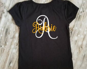 Initial with Name Children's Shirt- First Initial Shirt - Initial Outfit - Kid's Name Shirt - First Name Tshirt - Name Gift - Birthday Gift
