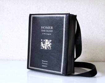 The Iliad Book Bag Homer Leather Book Bag