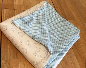 Blue Blanket swaddle/receiving blanket