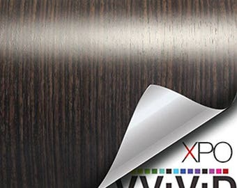 VViViD Ebony Dark Wood Grain Faux Finish Textured Vinyl Decal