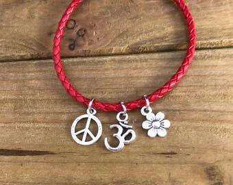 Red Peaceful bracelet