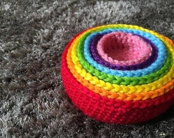 Rainbow Stacking Cups