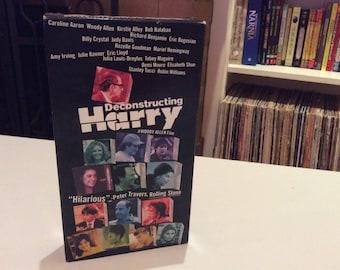 Deconstructing Harry (1997) Woody Allen, Julia Louis-Dreyfus - VHS Tape - Used