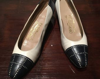 Salvatore Ferragamo Leather Spectator Pumps