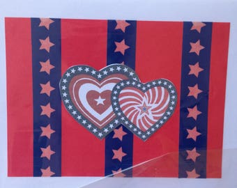 Noteworthy blank greeting cards-JAVA card collection-patriotic design