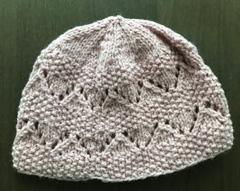 Rose Gold Knitted Stocking Cap