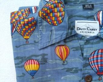 David Carey Originals Hot Air Ballon Button Up Shirt