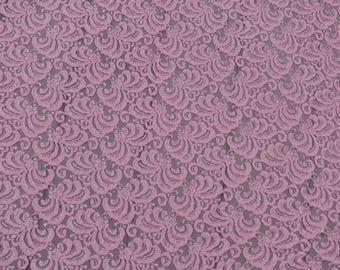 beautiful pink stretch lace Free shipping
