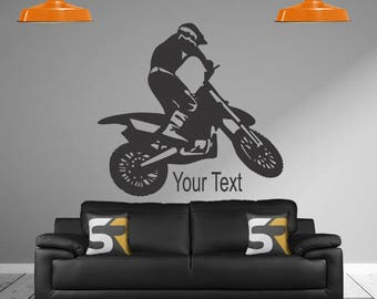 Motocross Decal, Personalized Name Decal, Dirt Bike Sticker, Motorcycle  Decal, Motocross Sticker Part 48