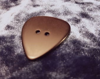 Guitar Mandolin Bass Pick hand sanded from a Button