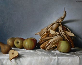 Corn, oil on linen