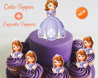 Sofia the first cake topper | Etsy