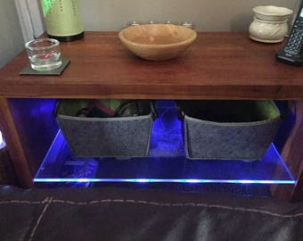 Tv Stand Table With 10mm Glass Shelf With Neon Lights