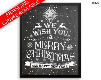 Christmas Canvas Art Christmas Printed Christmas Christmas Art Christmas Christmas Print Christmas Framed Art Christmas happy new year snow