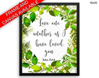 Love One Another Wall Art Framed Love One Another Canvas Print Love One Another Framed Wall Art Love One Another Poster Love One Another