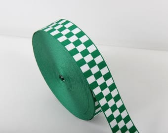 Assorted UK Ambulance - Medical Service Ribbon - Green & White - Diced