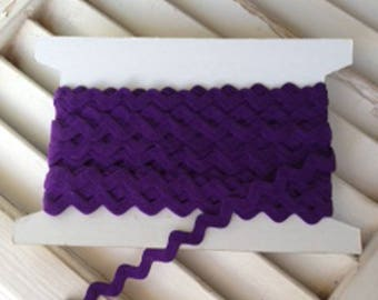 Ric Rac Purple 3/4 Inch Trim - 1 Yard