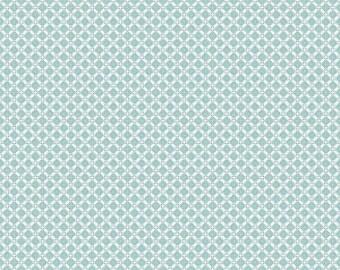 Dainty Darling Cotton Fabric  - Aqua C 5856 - Riley Blake Fabric- Perfect for Girls Clothing, Nursery, Quilts