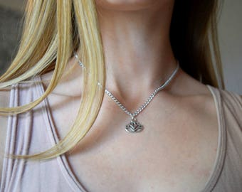 Lotus flower necklace, lotus necklace, lotus flower jewelry