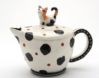 Cat Teapot - Calico (20762)