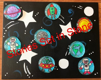 Outer Space Story Stone Set