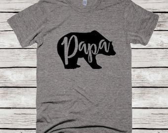 Papa Bear Shirt, Fathers Day Gift, Papa Bear T-shirt