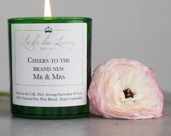 Luxury Mr And Mrs Wedding Candle