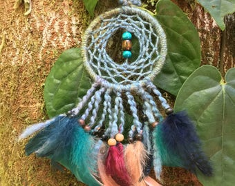 7cm S whimsical turquoise dreamcatcher