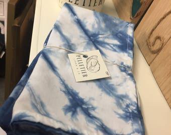 Indigo Dyed Cotton Blend Napkins