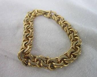 Vintage Designed Monet Heavy Link Bracelet or Charm Bracelet