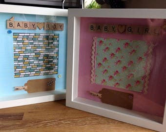 bespoke Baby boy or baby Girl celebration Frames.