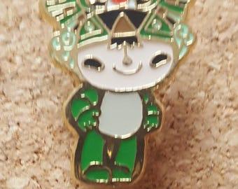 2008 Olympic Green Man Pin