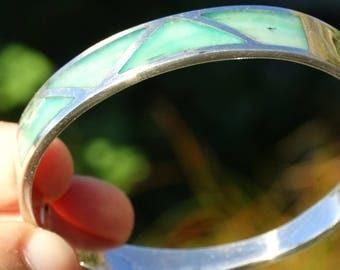 Green Andean Opal Bracelet  # EB135