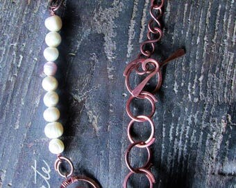 Copper River pearls necklace