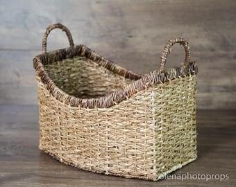 A posing basket. Newborn photography props. Storage basket.