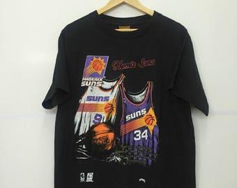 Rare!! Vintage 90's PHOENIX SUNS Spellout Nba Basketball Shirt