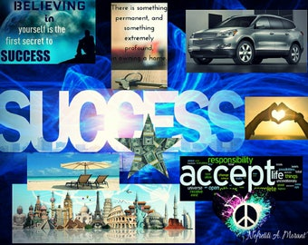 Success, Peace,Travel Vision Board
