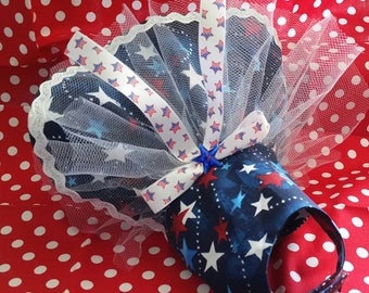 4th of July Stars Dress Custom made to your measurements up to a 12 inch girth