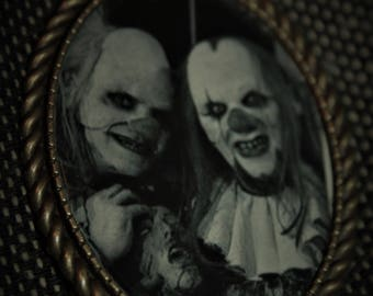 horror clown pendant